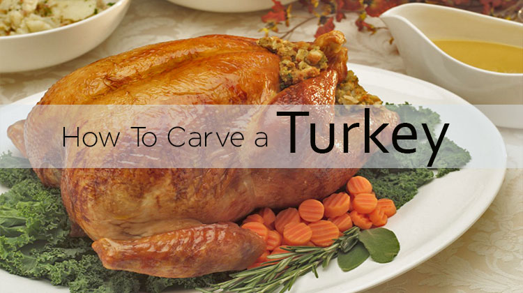 Good instructions on how to carve a turkey properly.