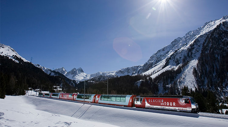 The Glacier Express St. Moritz is one of Switzerland's most scenic trains